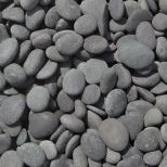 "1""-2"" Black Mexican Beach Pebbles, Pile"