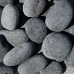 "2""-3"" Black Mexican Beach Pebbles, Pile"